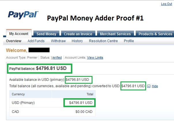 PayPal Money Adder | VIRTUAL BANK,TOOL HACKING,PAYPAL